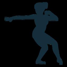 Gimnasta ejercicio flexibilidad acrobacia silueta.