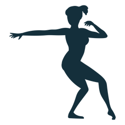 Gymnast exercise flexibility acrobatics silhouette