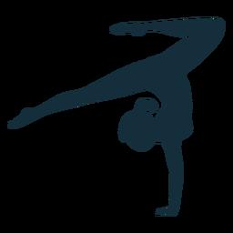 Gymnast exercise flexibility acrobatics silhouette sportswoman