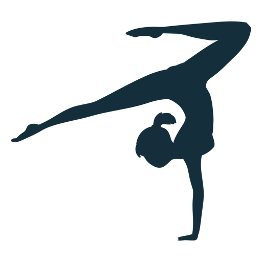 Gimnasta ejercicio flexibilidad acrobacia silueta deportista