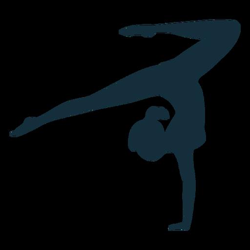 Gymnast exercise flexibility acrobatics silhouette sportswoman Transparent PNG