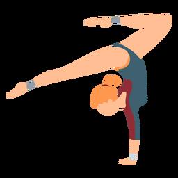 Gimnasta ejercicio leotardo cuerpo media flexibilidad acrobacias planas