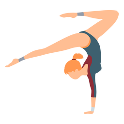 Gimnasta ejercicio leotardo cuerpo stocking acrobacias flexibilidad plana