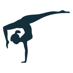 Gymnast flexibility acrobatics exercise performance silhouette