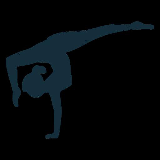 Gymnast flexibility acrobatics exercise performance silhouette
