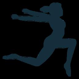 Gimnasta flexibilidad acrobacia ejercicio silueta.