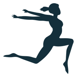 Gymnast flexibility acrobatics exercise silhouette