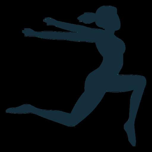 Gimnasta flexibilidad acrobacia ejercicio silueta. Transparent PNG