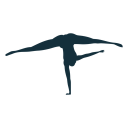 Gymnast flexibility acrobatics exercise splits silhouette