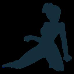 Gimnasta flexibilidad acrobacia rendimiento ejercicio silueta