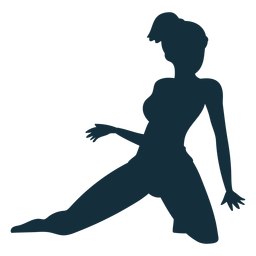 Gymnast flexibility acrobatics performance exercise silhouette