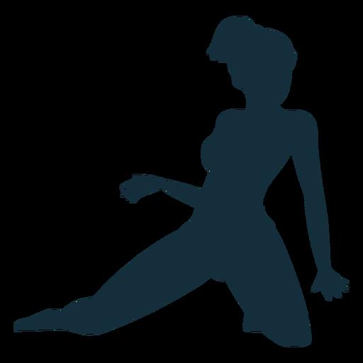 Gymnast flexibility acrobatics performance exercise silhouette