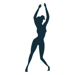 Gymnast flexibility exercise acrobatics performance silhouette