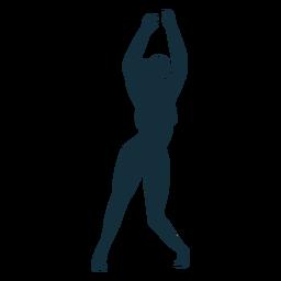 Turnerflexibilitätsübungsakrobatikleistungsschattenbild