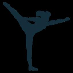 Gimnasta flexibilidad ejercicio acrobacia silueta.