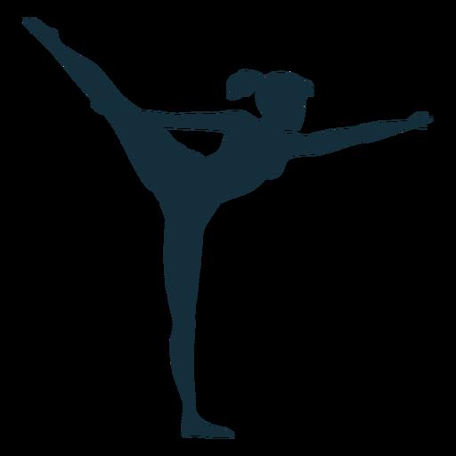 Gimnasta flexibilidad ejercicio acrobacia silueta. Transparent PNG
