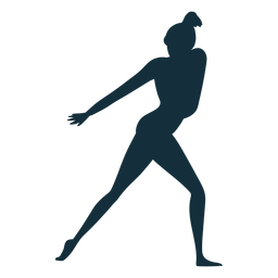 Ginasta flexibilidade desempenho acrobacias exercício silhueta