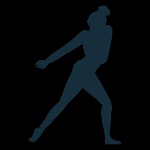 Gimnasta flexibilidad rendimiento acrobacia ejercicio silueta Transparent PNG
