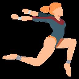 Gimnasta leotardo cuerpo media ejercicio acrobacia flexibilidad plana