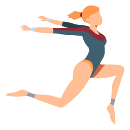 Gymnastikanzug-Bodystrumpf-Übungsakrobatikflexibilität flach