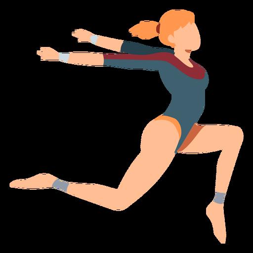 Gymnast leotard body stocking exercise acrobatics flexibility flat Transparent PNG