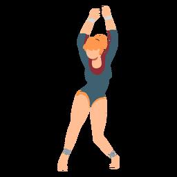 Gymnast collant body stocking exercício acrobacias desempenho flexibilidade plana