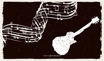 Musik Grunge Hintergründe