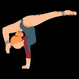Gimnasta leotardo body stocking ejercicio rendimiento acrobacias flexibilidad plana