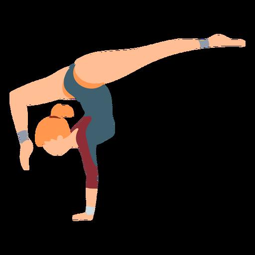 Gimnasta leotardo body stocking ejercicio acrobacia flexibilidad flexibilidad plana Transparent PNG