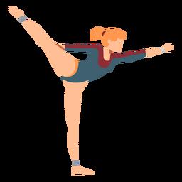 Gimnasta leotardo ejercicio cuerpo media acrobacia flexibilidad plana