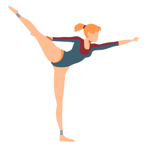 Gimnasta leotardo ejercicio cuerpo medias acrobacias flexibilidad plana Transparent PNG