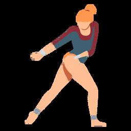 Gimnasta leotardo rendimiento body stocking ejercicios acrobacias flexibilidad plana