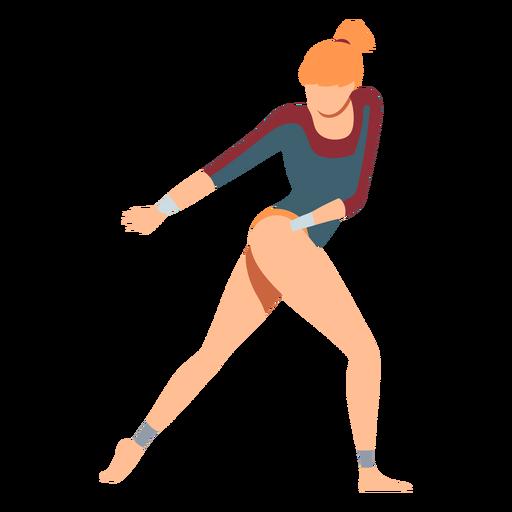 Gymnast leotard performance body stocking exercise acrobatics flexibility flat