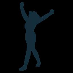 Gimnasta rendimiento flexibilidad acrobacia ejercicio silueta