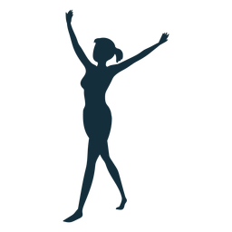 Turnerleistungsflexibilitätsakrobatik-Übungsschattenbild