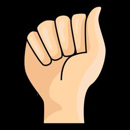 Handfinger ein Brief eine Illustration