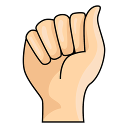 Mão, dedo, letra, ilustração