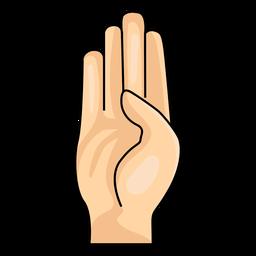 Illustration der Hand Buchstabe b des Handfingers b