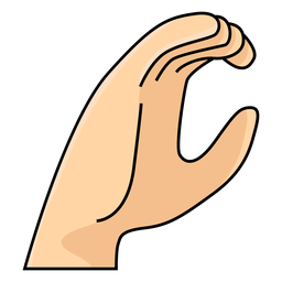 Hand finger c letter c illustration