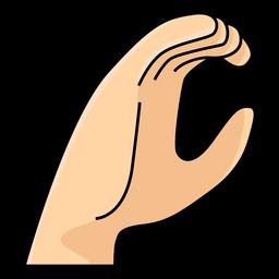 Mano dedo c letra c ilustración