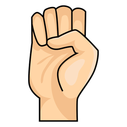 Abbildung e des Handfinger e-Buchstabens e