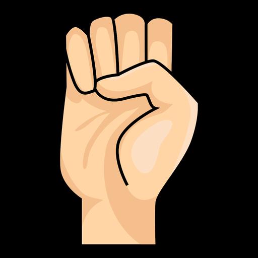 Hand finger e letter e illustration Transparent PNG