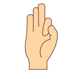 Mão, dedo, letra f, apartamento