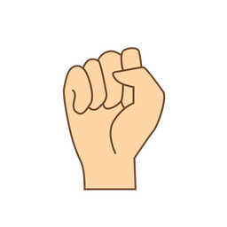 Handfinger Faust Brief flach