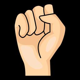 Mano dedo puño s letra s ilustración