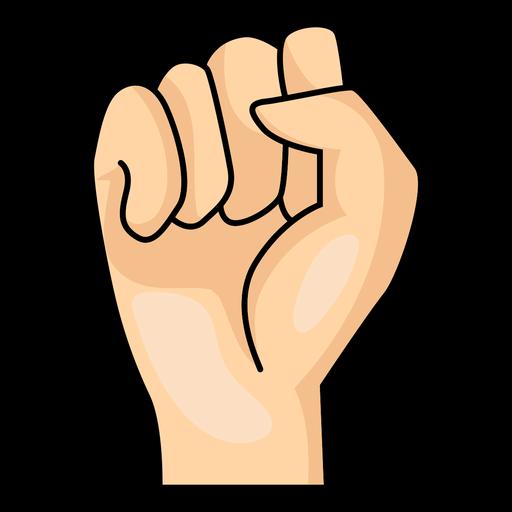 Hand finger fist s letter s illustration Transparent PNG