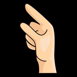 Mão dedo g letra g ilustração