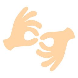 Hand finger gesture two pair flat