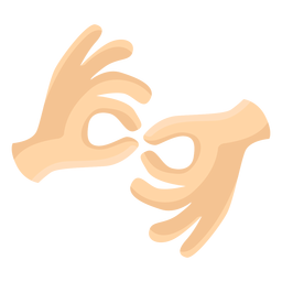 Hand finger gesture two pair illustration