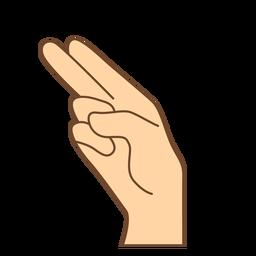 Hand finger h letter h flat